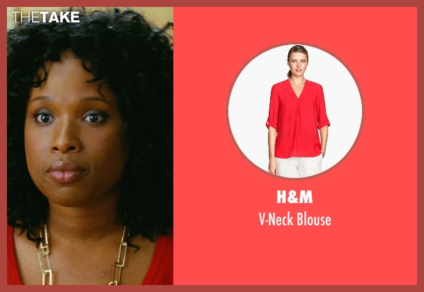 H&M red blouse from Sex and the City seen with Jennifer Hudson (Louise)