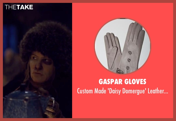 Gaspar Gloves beige gloves from The Hateful Eight seen with Jennifer Jason Leigh (Daisy Domergue)