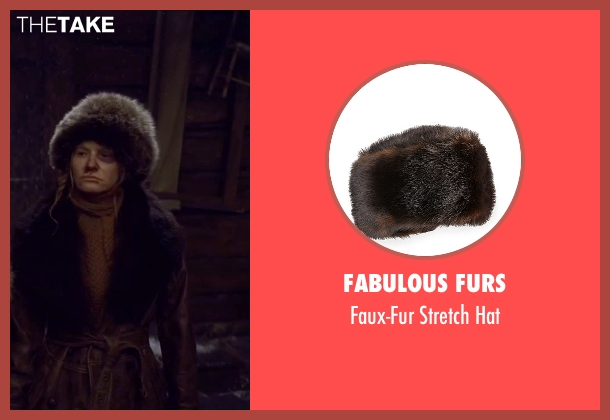 Fabulous Furs brown hat from The Hateful Eight seen with Jennifer Jason Leigh (Daisy Domergue)