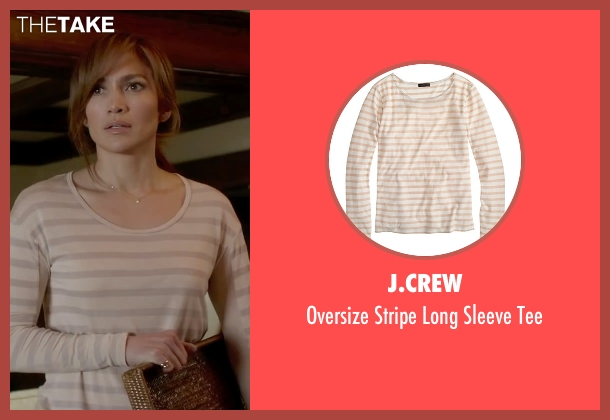 J.Crew beige tee from The Boy Next Door seen with Jennifer Lopez (Claire Peterson)