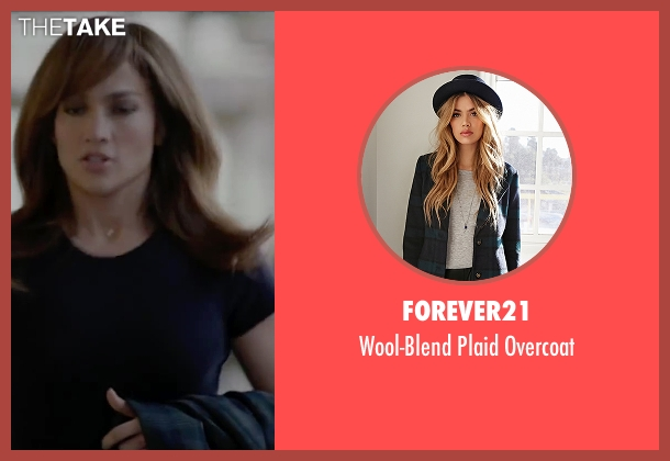 Forever21 blue overcoat from The Boy Next Door seen with Jennifer Lopez (Claire Peterson)