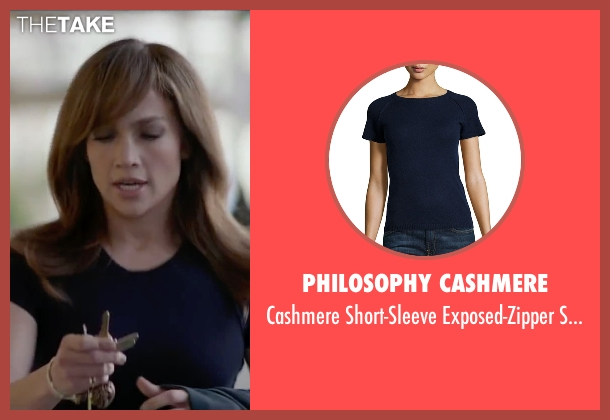 Philosophy Cashmere blue sweater from The Boy Next Door seen with Jennifer Lopez (Claire Peterson)