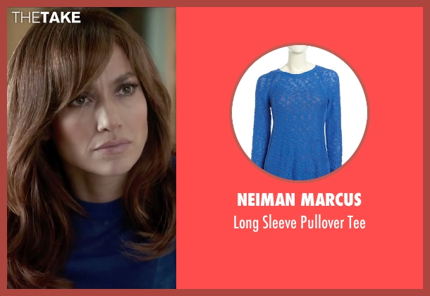 Neiman Marcus blue tee from The Boy Next Door seen with Jennifer Lopez (Claire Peterson)