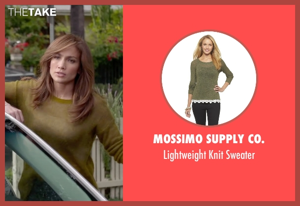 Mossimo Supply Co. green sweater from The Boy Next Door seen with Jennifer Lopez (Claire Peterson)