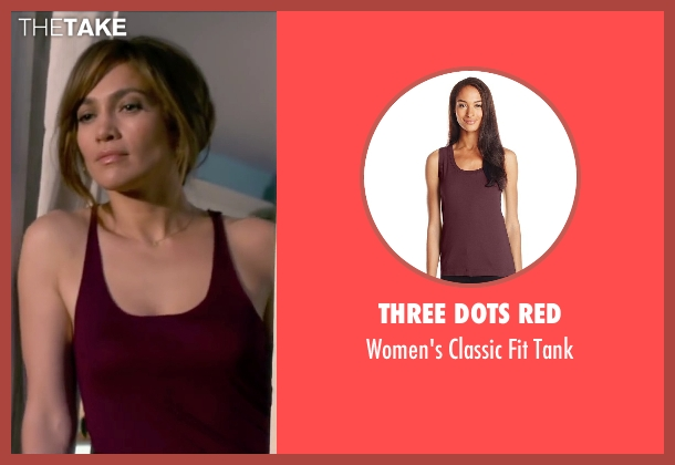 Three Dots Red red tank from The Boy Next Door seen with Jennifer Lopez (Claire Peterson)