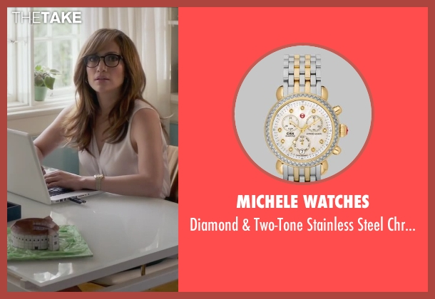 Michele Watches silver watch from The Boy Next Door seen with Jennifer Lopez (Claire Peterson)