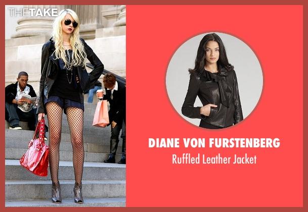 Diane Von Furstenberg black jacket from Gossip Girl seen with Jenny Humphrey (Taylor Momsen)