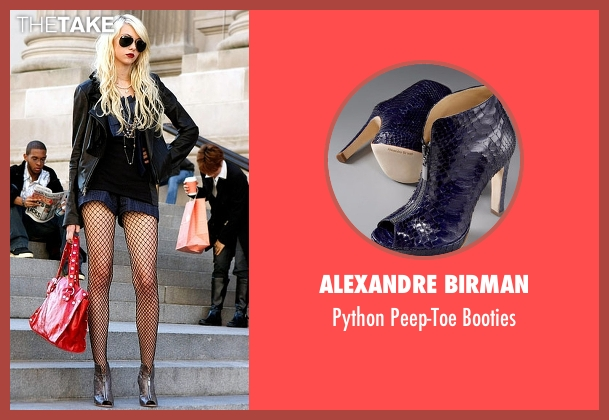 Alexandre Birman  blue booties from Gossip Girl seen with Jenny Humphrey (Taylor Momsen)