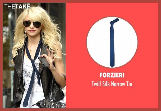 Forzieri blue tie from Gossip Girl seen with Jenny Humphrey (Taylor Momsen)