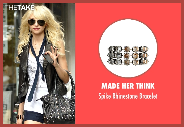 Made Her Think  gold bracelet from Gossip Girl seen with Jenny Humphrey (Taylor Momsen)
