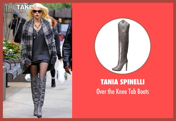 Tania Spinelli gray boots from Gossip Girl seen with Jenny Humphrey (Taylor Momsen)