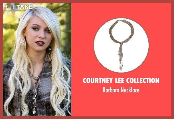 Courtney Lee Collection gray necklace from Gossip Girl seen with Jenny Humphrey (Taylor Momsen)