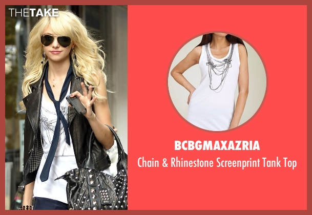 BCBGMAXAZRIA white top from Gossip Girl seen with Jenny Humphrey (Taylor Momsen)