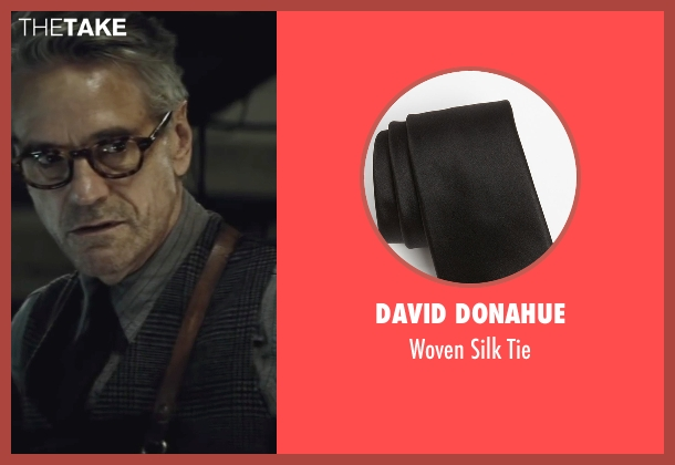 David Donahue black tie from Batman v Superman: Dawn of Justice seen with Jeremy Irons (Alfred)