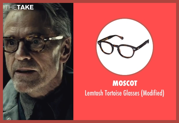 Moscot brown glasses from Batman v Superman: Dawn of Justice seen with Jeremy Irons (Alfred)