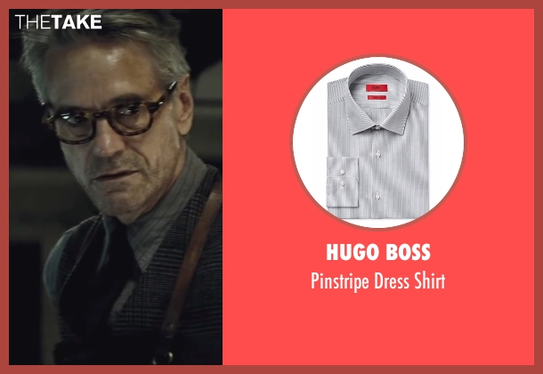 Hugo Boss gray shirt from Batman v Superman: Dawn of Justice seen with Jeremy Irons (Alfred)