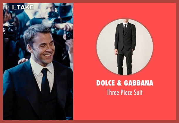 Dolce & Gabbana black suit from Entourage seen with Jeremy Piven (Ari Gold)