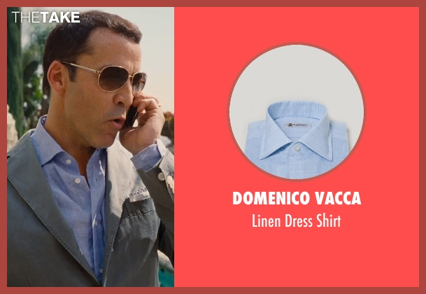 Domenico Vacca blue shirt from Entourage seen with Jeremy Piven (Ari Gold)