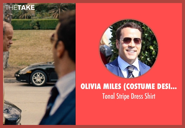 Olivia Miles (Costume Designer) and Domenico Vacca blue shirt from Entourage seen with Jeremy Piven (Ari Gold)