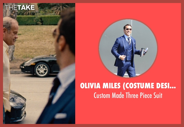 Olivia Miles (Costume Designer) and Domenico Vacca blue suit from Entourage seen with Jeremy Piven (Ari Gold)