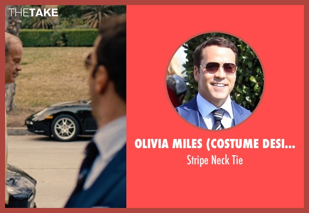 Olivia Miles (Costume Designer) and Domenico Vacca blue tie from Entourage seen with Jeremy Piven (Ari Gold)