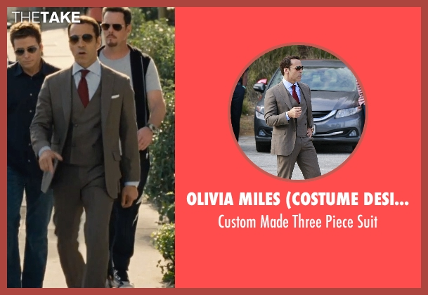 Olivia Miles (Costume Designer) and Domenico Vacca brown suit from Entourage seen with Jeremy Piven (Ari Gold)
