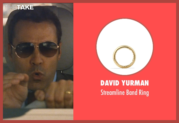 David Yurman gold ring from Entourage seen with Jeremy Piven (Ari Gold)
