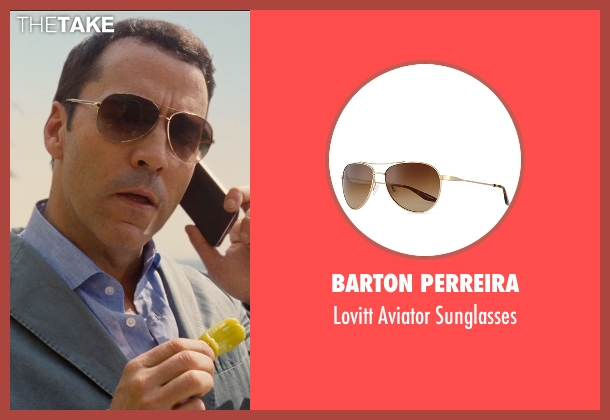 Barton Perreira  gold sunglasses from Entourage seen with Jeremy Piven (Ari Gold)