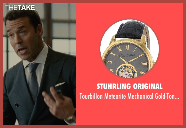 Stuhrling Original gold watch from Entourage seen with Jeremy Piven (Ari Gold)