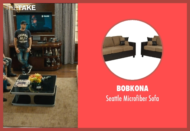 Bobkona sofa from Entourage seen with Jeremy Piven (Ari Gold)