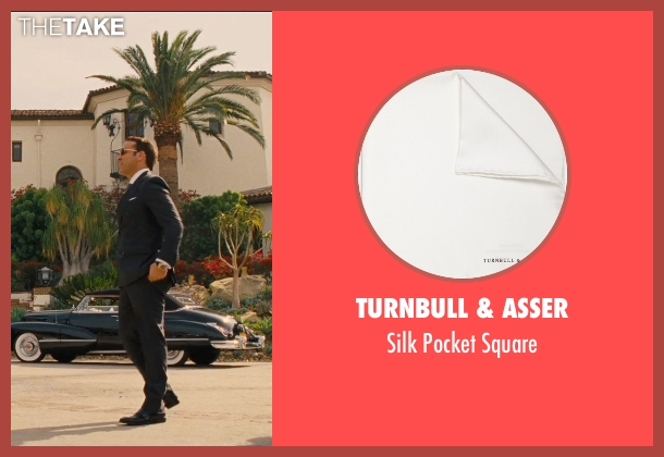Turnbull & Asser white square from Entourage seen with Jeremy Piven (Ari Gold)