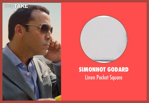 Simonnot Godard white square from Entourage seen with Jeremy Piven (Ari Gold)