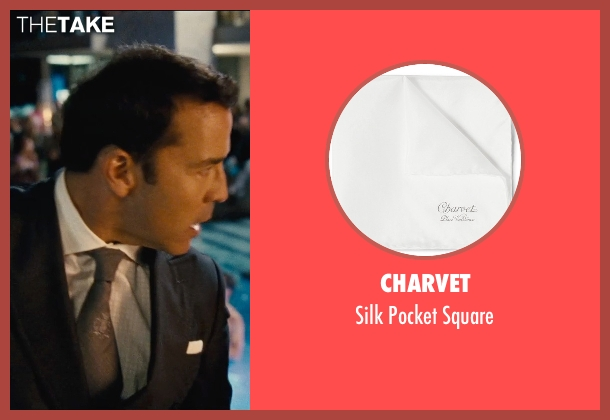 Charvet white square from Entourage seen with Jeremy Piven (Ari Gold)