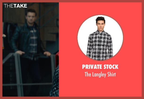 Private Stock black shirt from Avengers: Age of Ultron seen with Jeremy Renner (Clint Barton / Hawkeye)