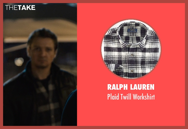 Ralph Lauren black workshirt from Avengers: Age of Ultron seen with Jeremy Renner (Clint Barton / Hawkeye)