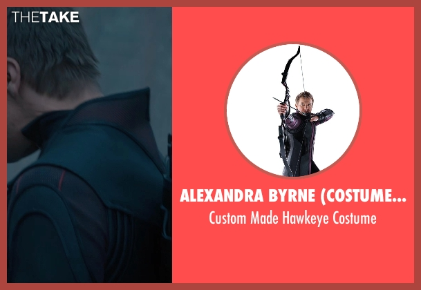 Alexandra Byrne (Costume Designer) costume from Avengers: Age of Ultron seen with Jeremy Renner (Clint Barton / Hawkeye)