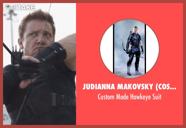Judianna Makovsky (Costume Designer) suit from Captain America: Civil War seen with Jeremy Renner (Clint Barton / Hawkeye)