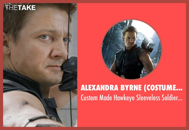 Alexandra Byrne (Costume Designer) costume from Marvel's The Avengers seen with Jeremy Renner (Clint Barton / Hawkeye)