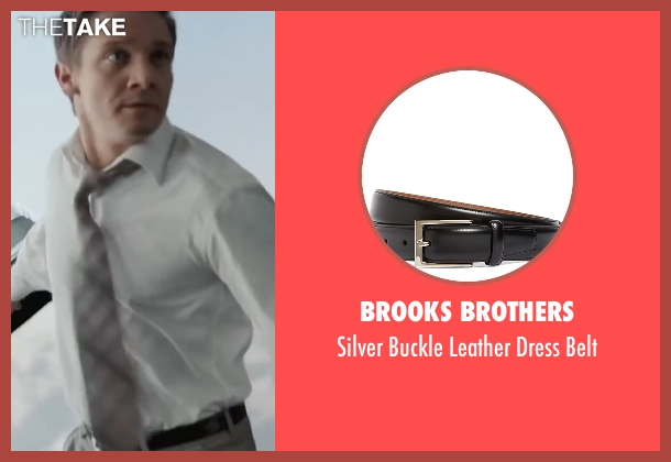 Brooks Brothers black belt from Mission: Impossible - Ghost Protocol seen with Jeremy Renner (William Brandt)