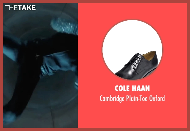 Cole Haan black oxford from Mission: Impossible - Ghost Protocol seen with Jeremy Renner (William Brandt)