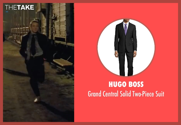 Hugo Boss black suit from Mission: Impossible - Ghost Protocol seen with Jeremy Renner (William Brandt)