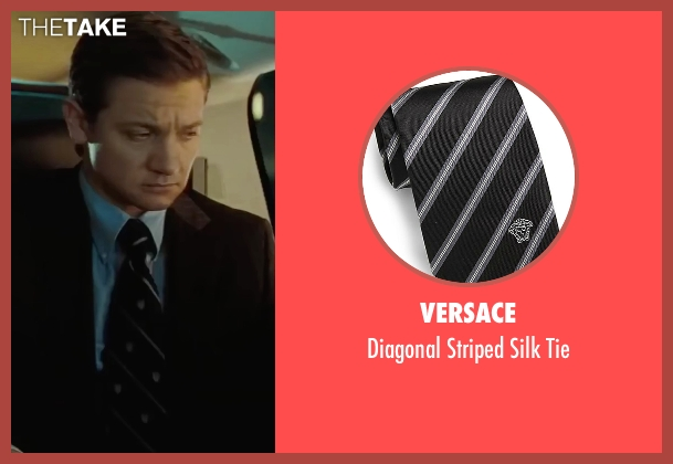 Versace black tie from Mission: Impossible - Ghost Protocol seen with Jeremy Renner (William Brandt)