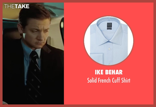 Ike Behar blue shirt from Mission: Impossible - Ghost Protocol seen with Jeremy Renner (William Brandt)