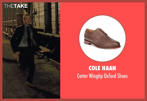Cole Haan brown shoes from Mission: Impossible - Ghost Protocol seen with Jeremy Renner (William Brandt)