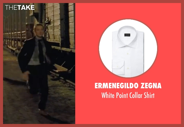Ermenegildo Zegna white shirt from Mission: Impossible - Ghost Protocol seen with Jeremy Renner (William Brandt)