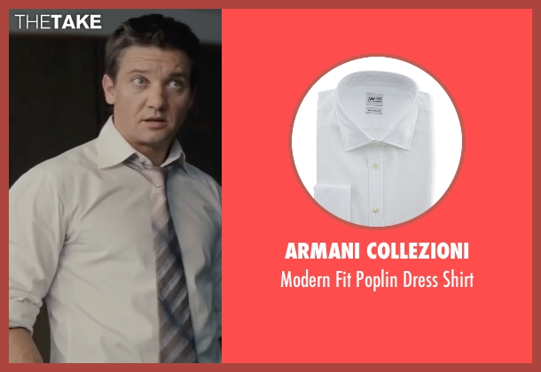 Armani Collezioni white shirt from Mission: Impossible - Ghost Protocol seen with Jeremy Renner (William Brandt)