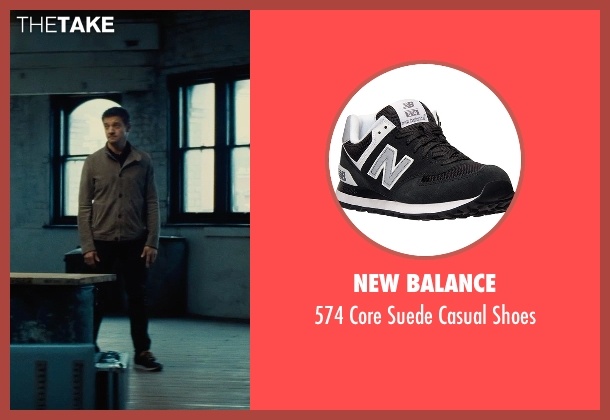 New Balance black shoes from Mission: Impossible - Rogue Nation seen with Jeremy Renner (William Brandt)