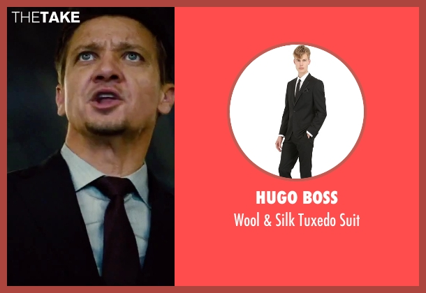 Hugo Boss black suit from Mission: Impossible - Rogue Nation seen with Jeremy Renner (William Brandt)