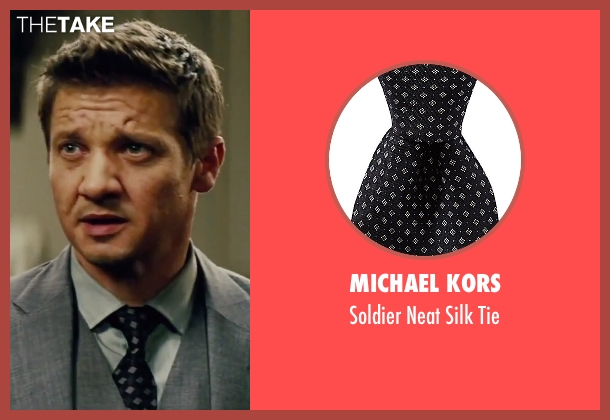 Michael Kors black tie from Mission: Impossible - Rogue Nation seen with Jeremy Renner (William Brandt)