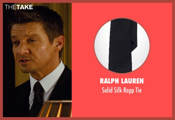 Ralph Lauren black tie from Mission: Impossible - Rogue Nation seen with Jeremy Renner (William Brandt)